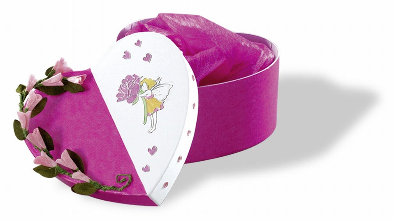 /Bo/îtes cadeau en carton blanc coeur Lot de 12/dans diff/érentes tailles Folia 3300/