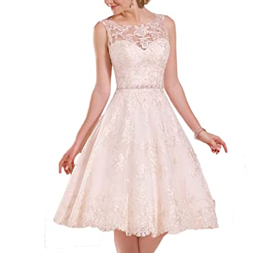 Fishlove Vintage Inspired Vestidos De Novia Rustic Tea Length Lace Bridal Wedding Dresses W29