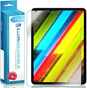 ILLUMI AquaShield Screen Protector Compatible with Apple iPad Pro 11 (2018)(2-Pack)(Full Coverage) No-Bubble High Definition Clear Flexible TPU Film