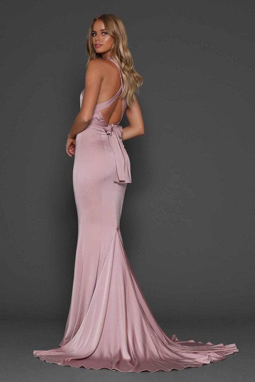 2e468351c44f0 Elle Zeitoune Alexander Figure Hugging Fishtail Multiway Dress at Amazon  Women's Clothing store: