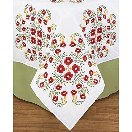 Amazon Herrschners Trumpet Vine Quilt Blocks Stamped Embroidery
