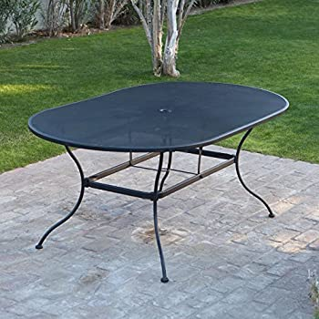 Oval Wrought Iron Patio Dining Table By Woodard Part 39