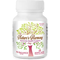 Boric Acid Vaginal Suppositories Nature's Harmony - 30 Count, 600mg - 100% Pure Made in USA