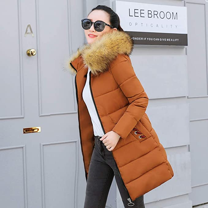 Amazon.com: Clearance Sale for Coat.AIMTOPPY Women Winter Warm Coat Faux Fur Hooded Thick Slim Down Jacket Long Overcoat: Computers & Accessories