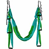 OUTDOOR SKY Aerial Yoga Swing - Ultra Strong Antigravity Yoga Hammock/Trapeze/Sling/Inversion Tool for Air Yoga Inversion Exercises - 2 Extensions Straps Included