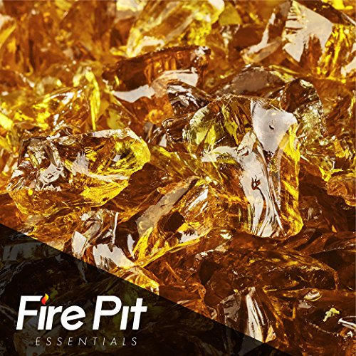 Cowboy Brown Crushed Fire Glass 1/2″-3/4″ Firepit Glass 10 Pounds