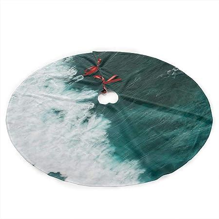 xifengquyuanyuanbaihuodian Falda de árbol de Navidad de Surf Azul ...
