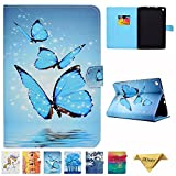 Amazon Kindle Fire HD 8 Case - JZCreater Folio PU Leather Smart Case Cover with Auto Wake/Sleep for All-New Fire HD 8 Tablet (8inch Display 2017 and 2016 Release, 7th/6th Generation), Butterfly