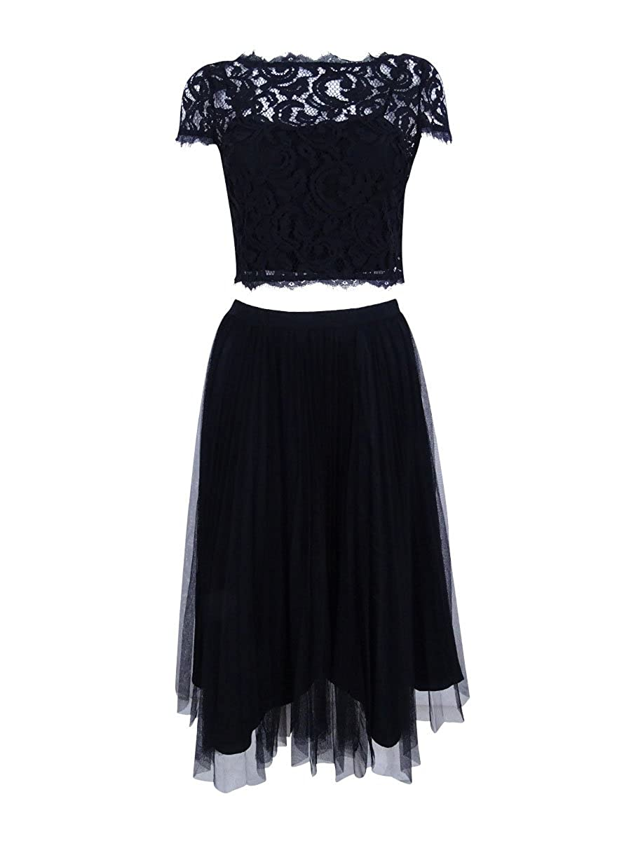 18ed96c6b05 Top1  Adrianna Papell Women s Cap Sleeve Crop Top with Fit and Flare Skirt