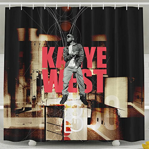 [SNEWCLOW Kanye West Good Sag,Good Waterproof And Opaque Bathroom Curtain For Home / Traval / Hotel With Hooks And Hanging Ring] (Sims 3 Bear Costume)