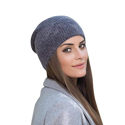 Hunputa Womens Hat Winter Thick Slouchy Beanie Hat Soft Oversized Baggy Cap  Warm Chunky Stretch Cable 05b8a50ea0e