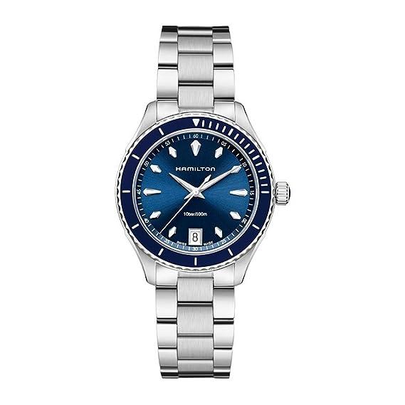 Hamilton Reloj Analogico para Hombre de Cuarzo con Correa en Acero Inoxidable H37451141: Amazon.es: Relojes