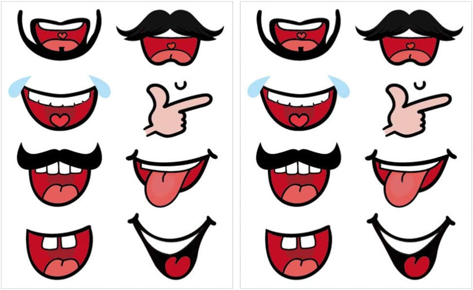 TOYANDONA 80pcs Mouth Stickers Mouth Lip Adhesive Label Stickers Face Cover Face Shield Sticker Decorative Mouth Cover Stickers