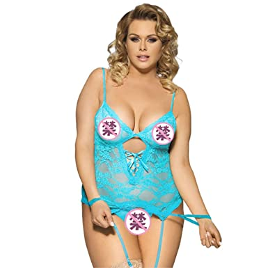 82f56f39eb6 Guyi Ladies Sexy Lingerie Large Size Garter Pajamas lace Temptation Sexy  Nightdress