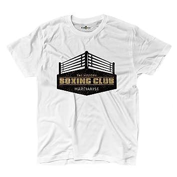 Camiseta camiseta Boxeo The History Boxing Club Marcianise Gimnasio Sport 1, blanco, Small