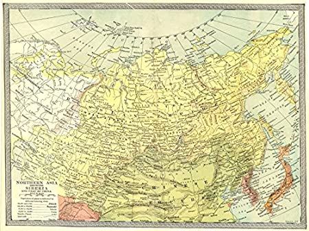 ASIA:Northern Asia showing Siberia and part of China,1907 map ...