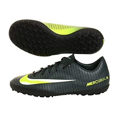 b10d1b8545a Nike Kids MercurialX Victory VI CR7 Turf Soccer Shoes  Seaweed Volt Hasta White