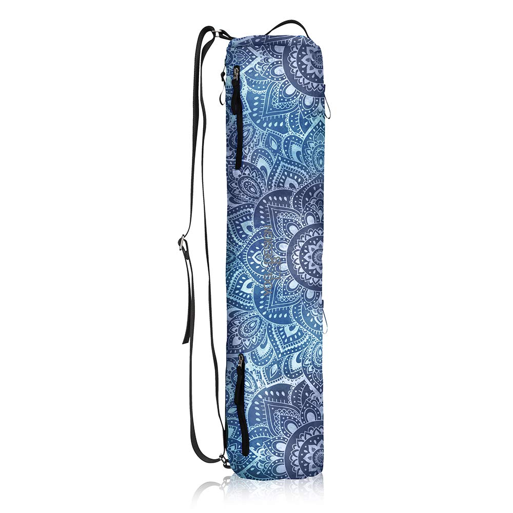 YOGA DESIGN LAB | The Yoga Mat Bag | Premium, All-in-One, Lightweight, Multi Pockets, Extra Durable | Designed in Bali | The Travel Yoga Bag That Fits Your Mat & Your Life! (Mandala Aqua)