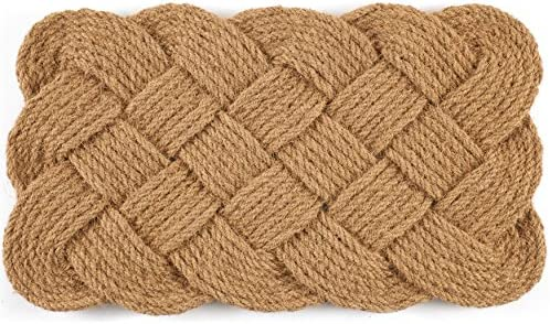 Entryways Knot-Ical , Hand-Stenciled, All-Natural Coconut Fiber Coir Doormat 40 x 60 cm