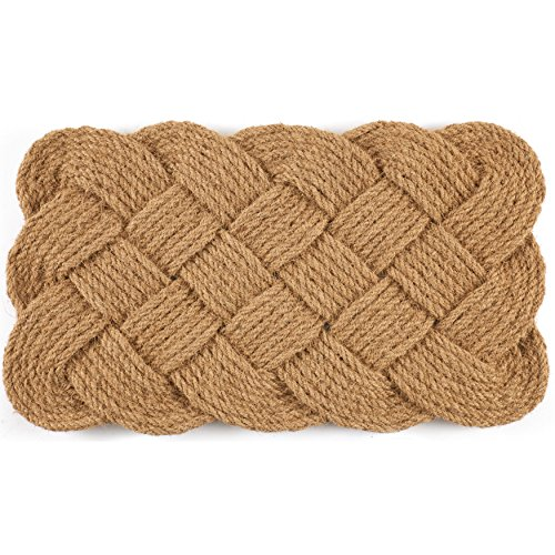 Entryways Knot-Ical , Hand-Stenciled, All-Natural Coconut Fiber Coir Doormat 18