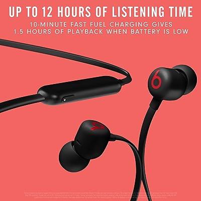 Beats Flex Wireless Earbuds – Apple W1 Headphone Chip, Magnetic Earphones, Class 1 Bluetooth, 12 Hours of Listening Time, Built-in Microphone - Black