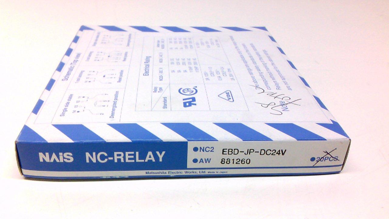 Nais Nc2ebd Jp Dc24v Pack Of 17 Relay Dpdt 3a 250vac 5a 12 Volt 38vdc Industrial Scientific