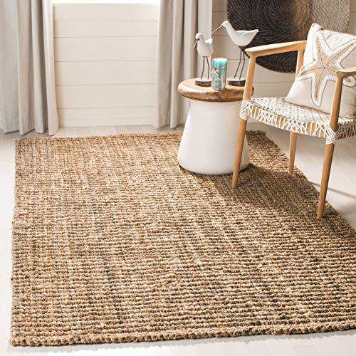 Pottery Barn Outdoor Rugs - Safavieh Natural Fiber Collection NF447A Hand-Woven Natural Reversible Jute Area Rug (2' x 3')