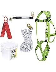 "PeakWorks V8257045 - Construction Fall Protection Kit - Reusable Bracket - 2"" (0.6 m) SPLanyard - Integral ADP Rope Grab - 50' (15.2 m)"