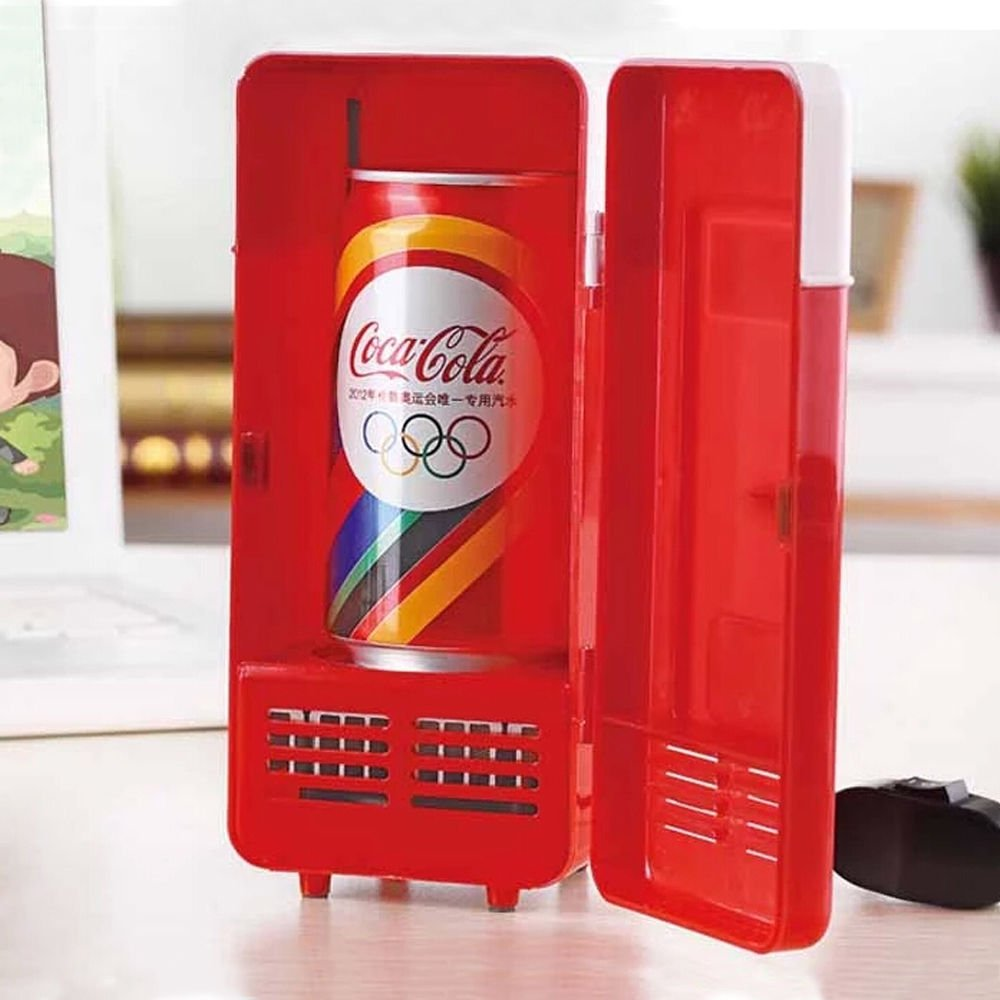 NAMEO USB Fridge, Portable Can-Shaped Beverage Drink Cans Cooler and Warmer (Can-Shaped) US084