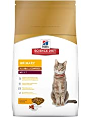 Hill's Science Diet Adult Urinary & Hairball Control Cat Food, Chicken Recipe Dry Cat Food, 3.17kg Bag