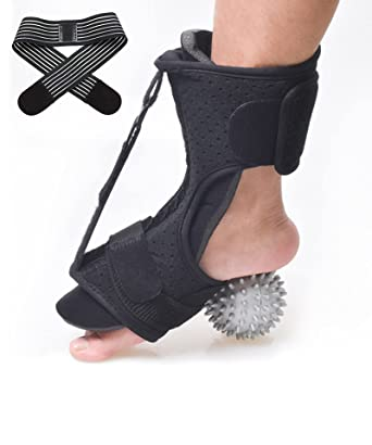 SUPBEC Plantar Fasciitis Night Splint, with[Massage Ball and Bandage], Brace for Drop Foot, Adjustable Plantar Fasciitis Brace, Effective Relief for Plantar Fasciitis Pain, Heel, Arch Foot Pain