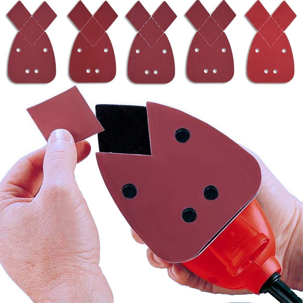 SIQUK 50 Pi/èces Mouse Sanding Sheet Feuille de Pon/çage 1000//1200// 1500//2000// 3000 Grains avec 2 Embouts Suppl/émentaires pour le Remplacement Fit pour Black and Decker Detail Palm Sander