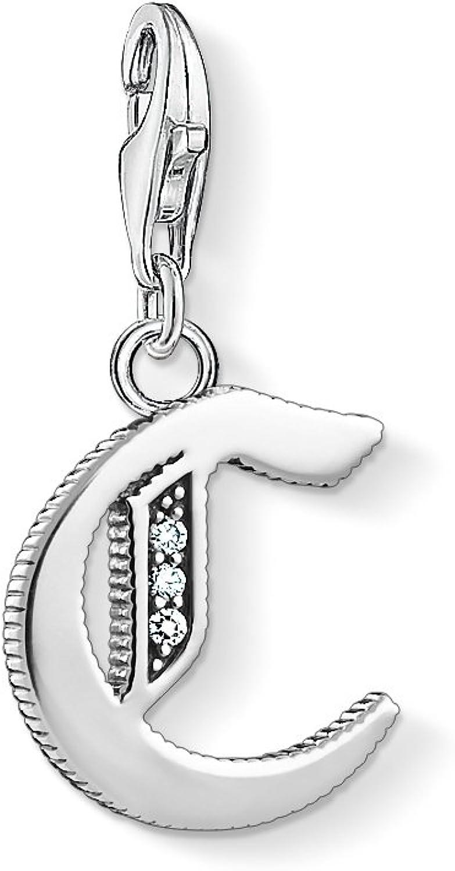 Thomas Sabo - Colgante de Mujer, Plata de Ley 925 con Circonitas Blancas, Plateado, 6 cm