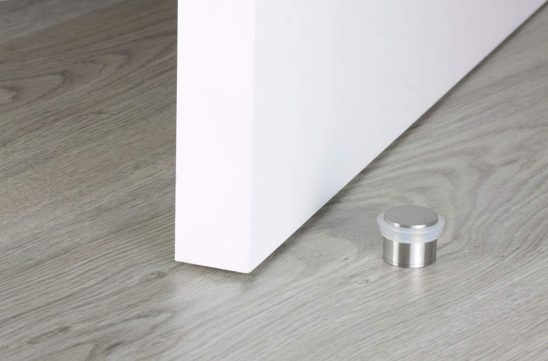 caoutchouc transparent finition inox mat ADH/ÉSIF EVI Herrajes I-163-T stainless steel Butoir de porte