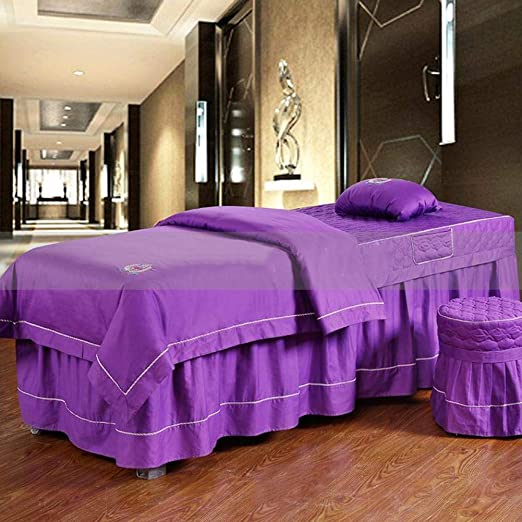 Premium Algodón Juego de sábanas para camilla de masaje Falda de ...