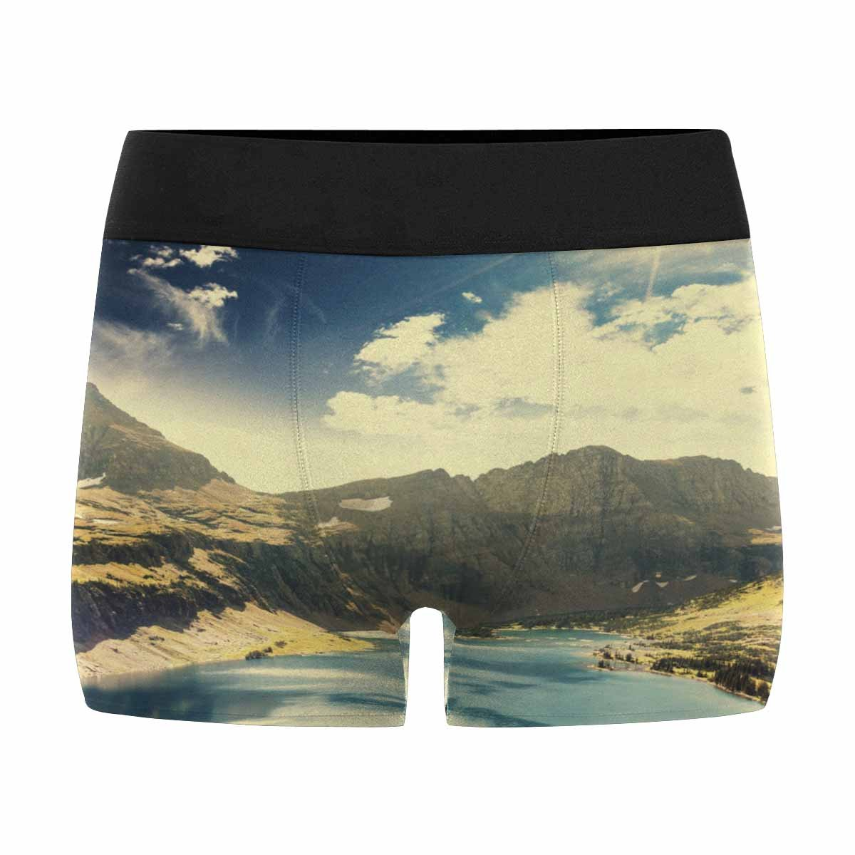 XS-3XL INTERESTPRINT Mens Boxer Briefs Underwear Sunshine in The Mountains and Lakes