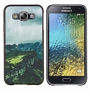 Stuss Case / Funda Carcasa protectora - Grises nubes de verano Canyon - Samsung Galaxy E5 E500