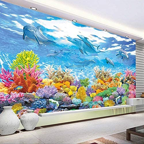 3d Photo Wall Paper Underwater World Wall Painting Living Room Childrens Room Bedroom Wall Mural Wallpaper For Kids Room250x175cm