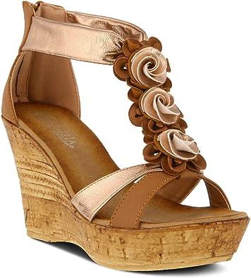 PATRIZIA Zonni Wedge Sandals Camel