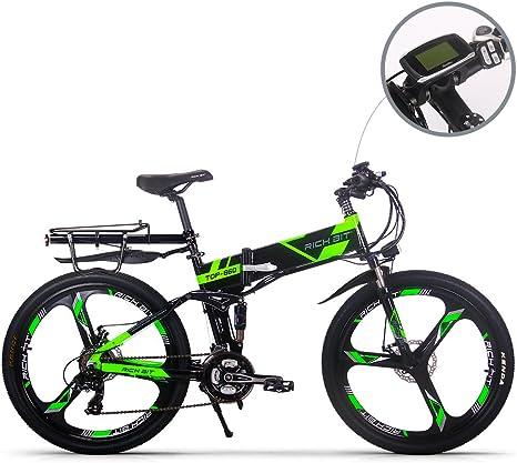 RICH BIT Bicicleta de Montaña Eléctrica, Unisex Adulto, Urbana EBIKE-26,Verde: Amazon.es: Deportes y aire libre