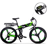 RICH BIT Electric Bike updated RT860 36V 12.8A Lithium Battery folding bike MTB mountain bike e bike 17 * 26 inch Shimano 21 Speed bicycle smart Electric bicycle