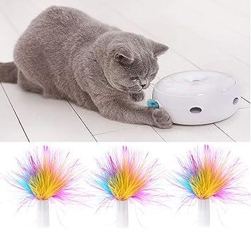 Yanhonin - Juego de 3 Juguetes de Gato, Accesorios para Gatos ...