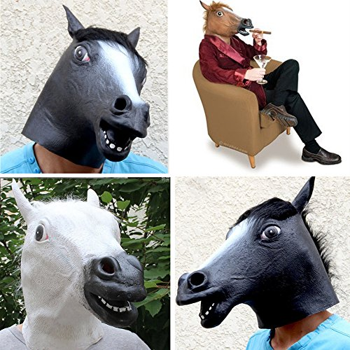 Kangkang@ Latex Horse Head Mask for Halloween Carnival Christmas Easter Cosplay Costume Party Decoration Mascaras De Latex Realista Brown