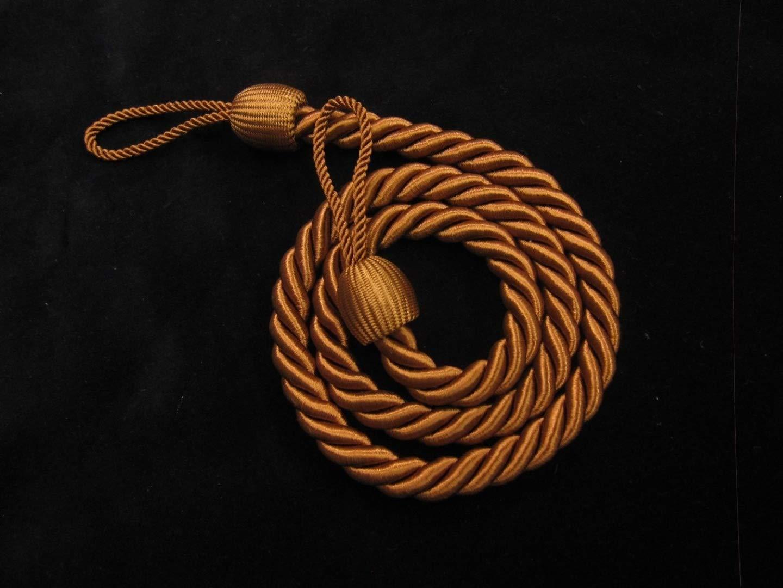 2 Embrasses de Rideaux en marron –  Tissu fin –  Slinky Embrasses Retenues