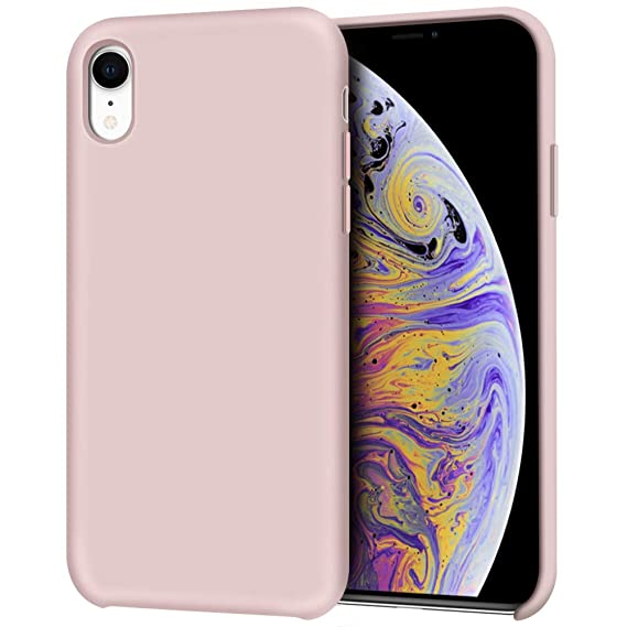save off ae8e0 9140e Anuck iPhone XR Case, Anti-Slip Liquid Silicone Gel Rubber Bumper Case with  Soft Microfiber Lining Cushion Slim Hard Shell Shockproof Protective Case  ...