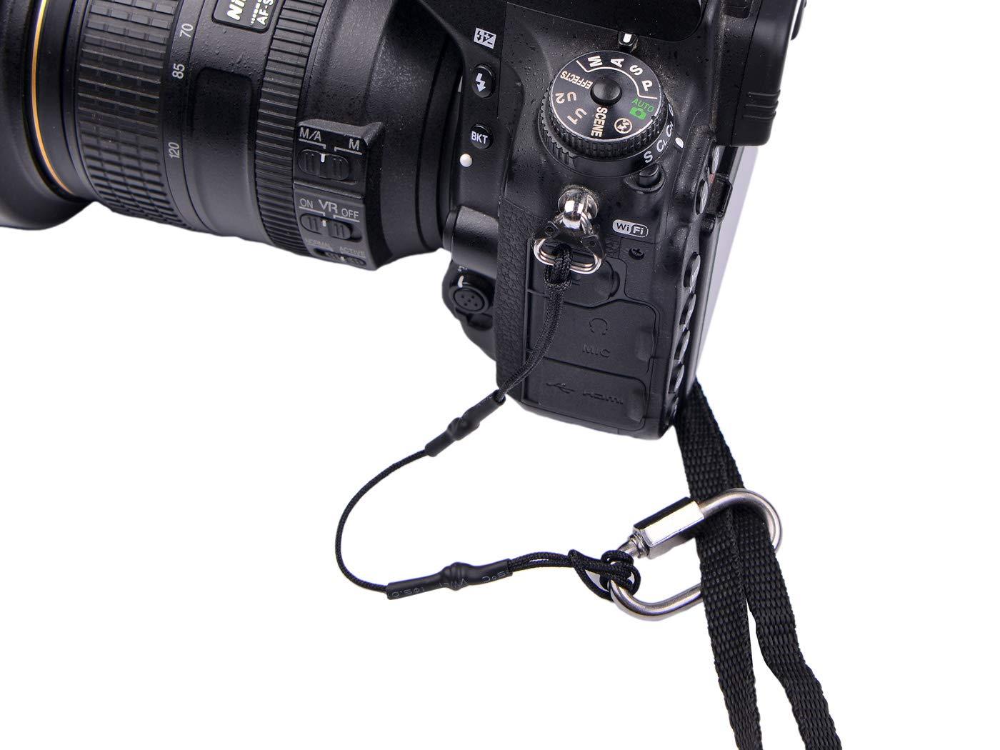 LABOTA Safety Camera Tether-Correa para c/ámaras for DSLR//Camcorder,3 Pack