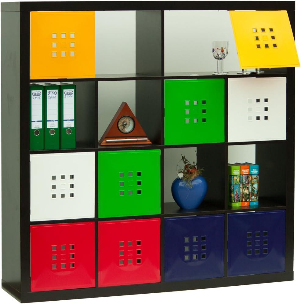 Schwarz Dekaform Designer T/ür f/ür W/ürfelregal Flexi Einsatz Ikea Regal Expedit+Kallax mit N/örn/äs