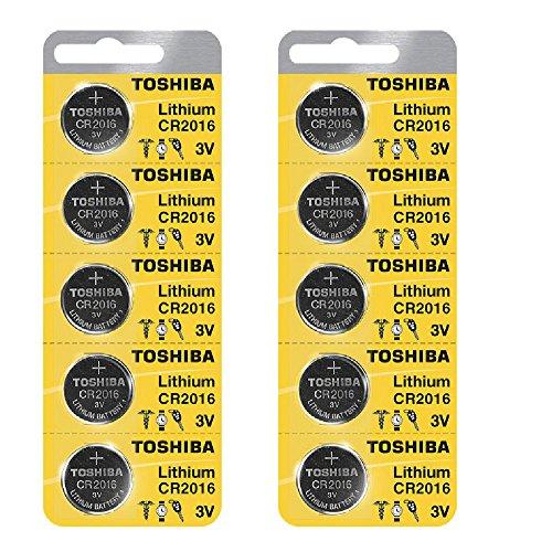 Toshiba CR2016 3 Volt Lithium Coin Battery (10 pcs)