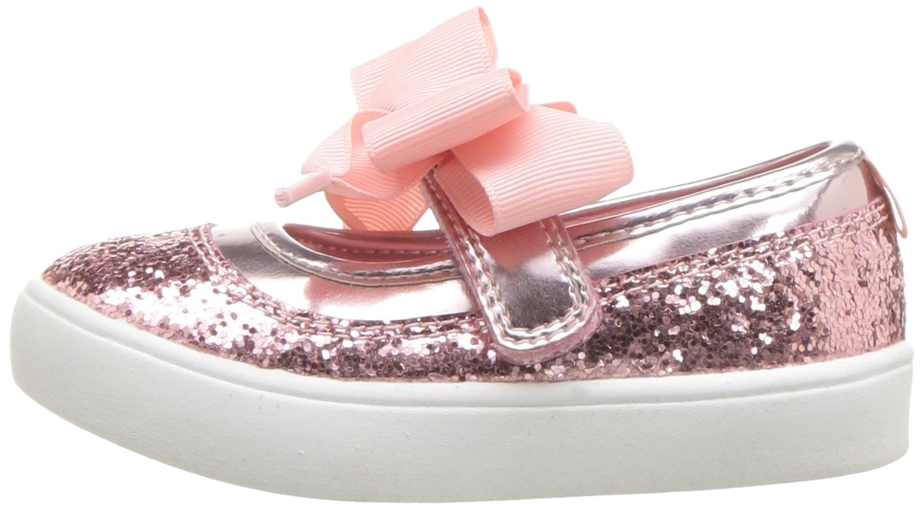 Carter's Girls' Alberta Bow Mary Jane Flat, Pink, 3 M US Little Kid by Carter's (Image #5)