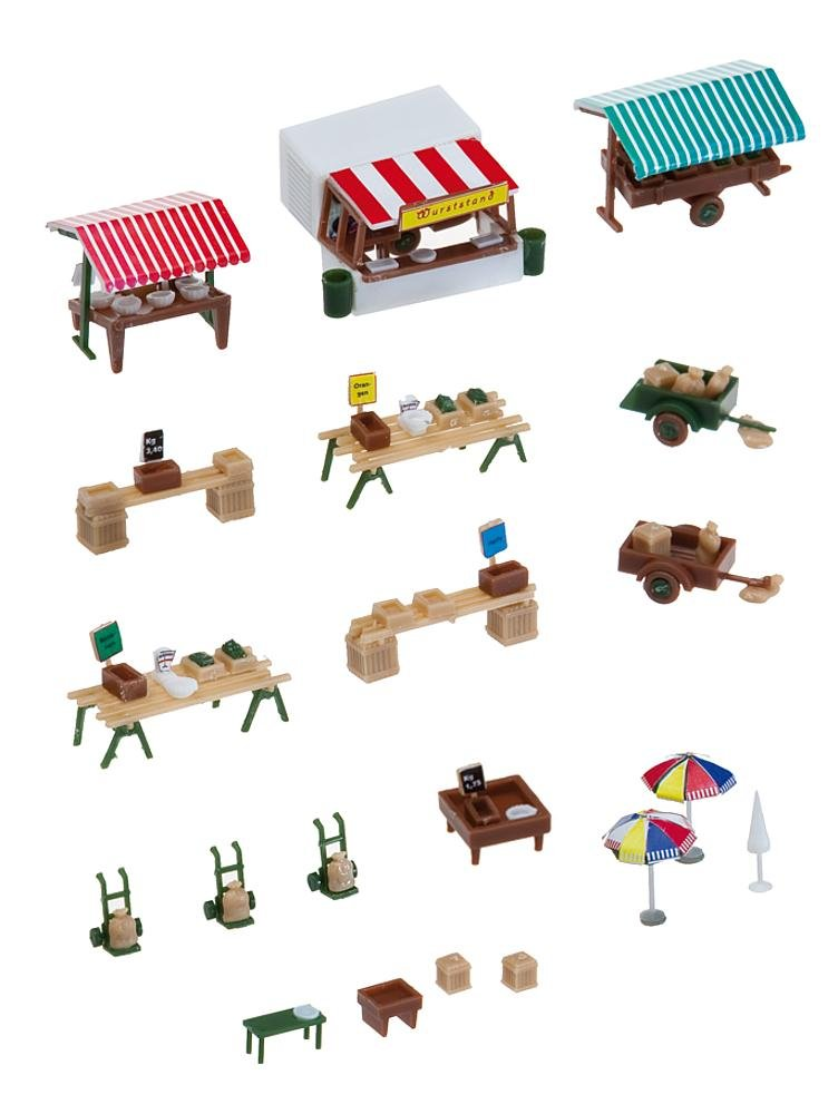 Faller 272533 Market Stands and carts N Scale Scenery and Accessories